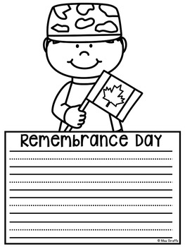 Remembrance Day Writing Activities No Prep Crafts
