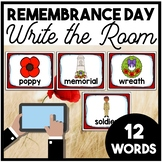 Remembrance Day Canada Write the Room | Boom Cards Included