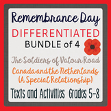 Remembrance Day Canadian History BUNDLE 4 Differentiated Resources Grades 5-8