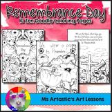 Remembrance Day Colouring Pages, Zen Doodles