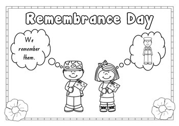 Remembrance Day Colouring in