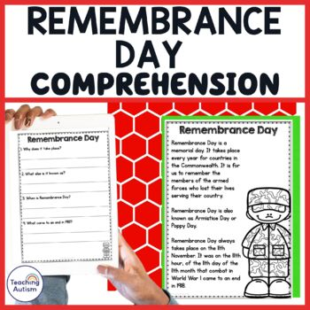 Remembrance Day Comprehension