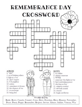 Remembrance Day Crossword Puzzle