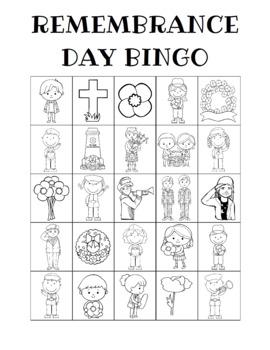 Remembrance Day Bingo Custom Printables