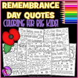 Remembrance / Memorial Day Doodle Quote Coloring Pages