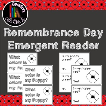 Remembrance Day Emergent Reader