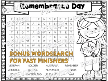 Remembrance Day Factballs and Information Sheets