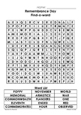 Remembrance Day ~ Find-a-Word ~ Word Search