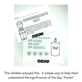 Remembrance Day Flip Book Australia HASS - perfect for little learners