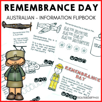 Remembrance Day Flip Book Australia