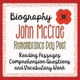 REMEMBRANCE DAY John McCrae Biography Texts, Activities PR