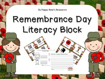 Remembrance Day Literacy Block