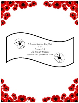 Remembrance Day Mini Unit
