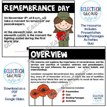 Remembrance Day Mini-Unit