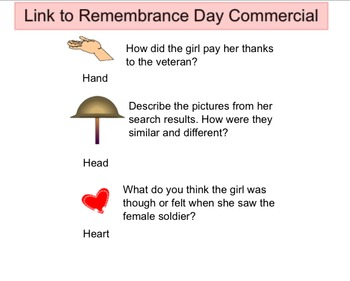 Remembrance Day Morning Activities for All Grades