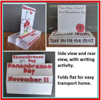 Remembrance Day POP-UP Craftivity