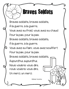 FREE Remembrance Day Poem ~ French