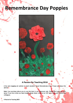 Remembrance Day Poppies Art