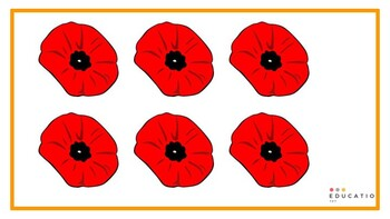 Remembrance Day Poppies Outline