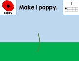 Remembrance Day Poppy Playdough or Loose Part Mats