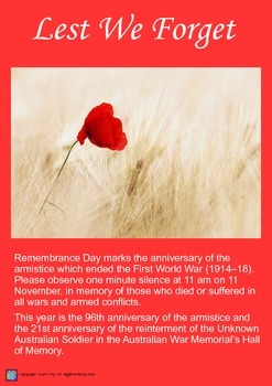 Remembrance Day Procedure