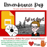 Remembrance Day - REMOTE: VIRTUAL CLASSROOM - Paperless -