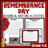 Remembrance Day Canada   Reading and Writing Activities