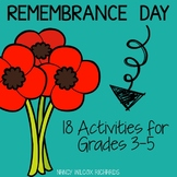 Remembrance Day in Canada, Reading and Writing Activities for Grades 3-5