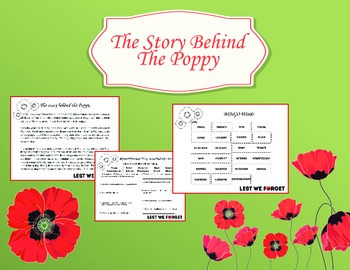 Remembrance Day: Reading comprehension, Vocab words, Bingo, Art & Teacher guide