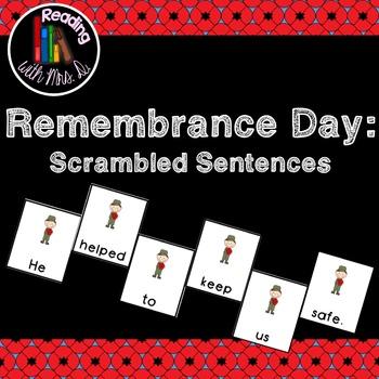 Remembrance Day Scrambled Sentences