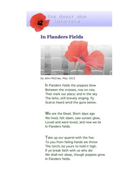 Remembrance Day - Simple English - ESL / ELL