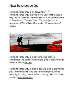 Remembrance Day Story