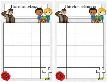 Remembrance Day/Veterans Day/Memorial Day Incentive Chart