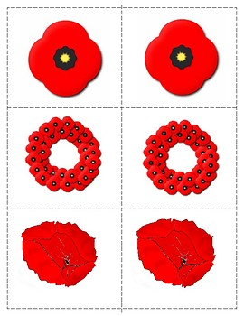 Remembrance Day/ Veterans Day Number Cards 1-10, Count Clip 1-12 and Pin Poking