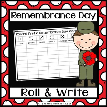 Remembrance Day Roll It And Write It Activity