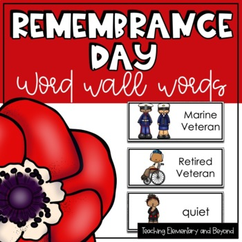 Remembrance Day Word Wall Words