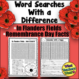 Remembrance Day Wordsearches - In Flanders Fields - Why Wear a Poppy