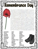 Remembrance Day Word Search Puzzle