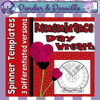 Remembrance Day Wreath - Spinner Template
