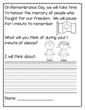 Remembrance Day Writing Activity