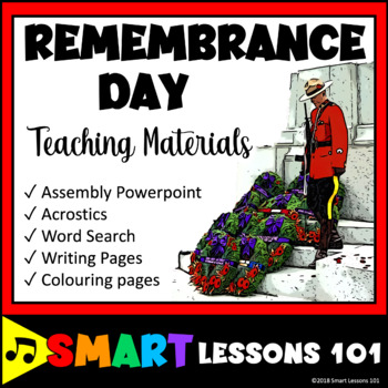 Remembrance Day Writing Art and School Assembly Activities