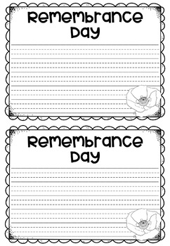 Remembrance Day Writing Craft