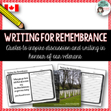 Remembrance Day Writing Prompts - Canada