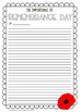 Remembrance Day Writing Sheets