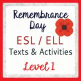 Remembrance Day (ESL 1)
