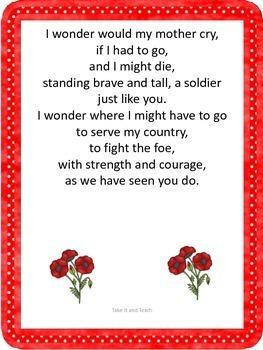 Remembrance Day or Veteran's Day Poem:  Soldier, I Wonder