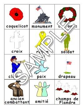 Remembrance / Veteran's / Memorial Day - Le jour du Souvenir FRENCH