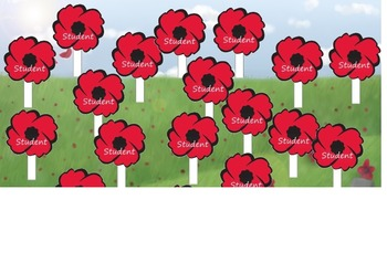 Remembrance & Veterans Day/November Attendance  (interactive and makes sound)