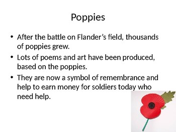 Remembrance day/Veteran's day power point