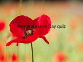 Remembrance day/ Veterans day quiz